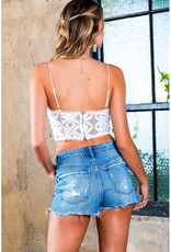 One and Only Collective White Lace Bustier