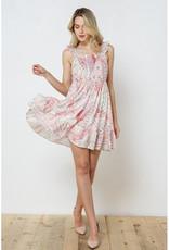 blue b. collection Soft Pink Print Smocked Dress