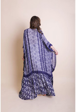 Leto Accessories Purple Paisley Kimono