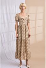 Lena Floral Puff Sleeve Maxi Dress