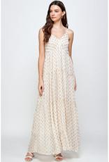 En Creme Gold Dot Maxi Dress