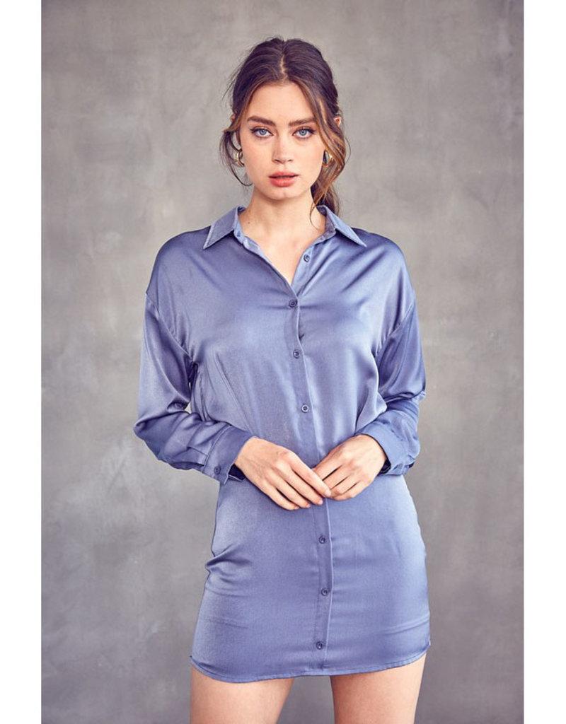 idem ditto Button Down Shirt Dress