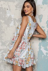 One and Only Collective Floral Print Mini Dress