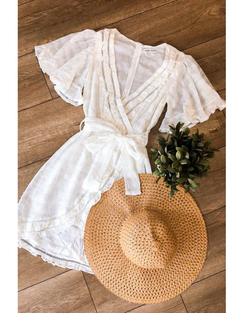 One and Only Collective White Flutter Mini Dress