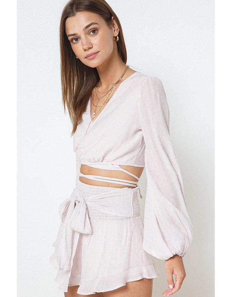 ILLA ILLA Pale Pink Wrap Crop Top