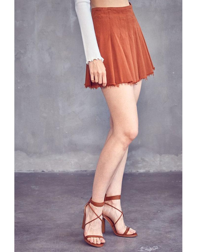 idem ditto Box Pleat Mini Skirt