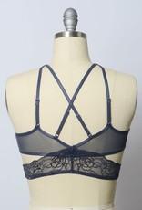 Leto Accessories Strappy Lace Bralette