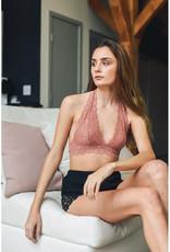 Leto Accessories Lace Halter Bralette