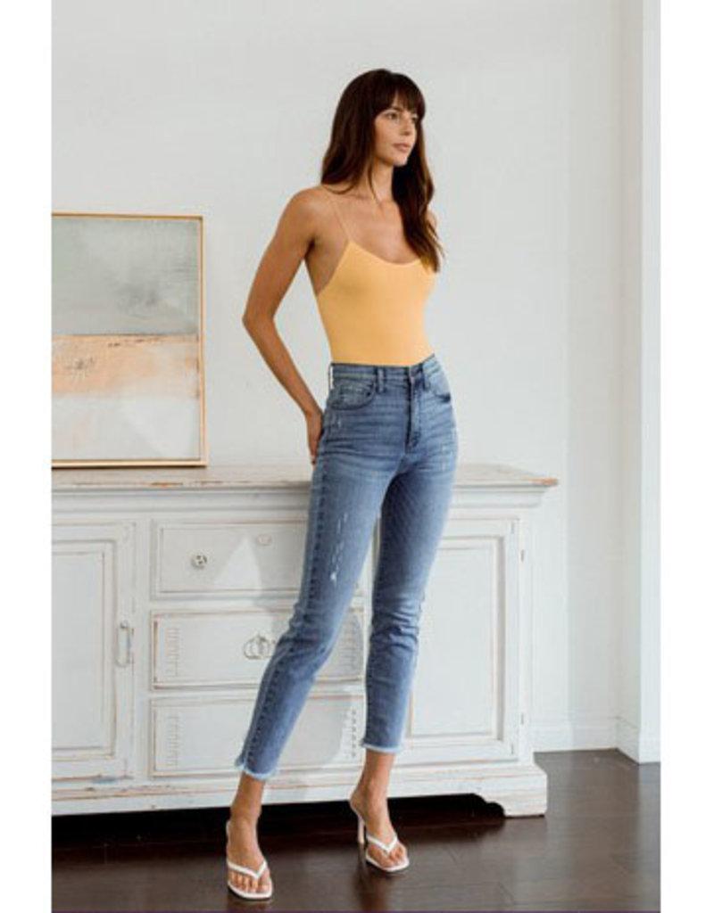 sneak peek 90's High Rise Distressed Skinny Jeans