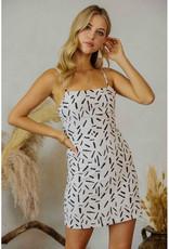 Endless Blu Black & White Print Mini Dress