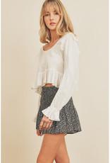 Dress Forum Ditsy Floral Flared Skirt