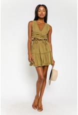 Olivaceous Gauze Mini Skirt