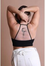 Leto Accessories Tattoo Back Bralette