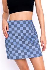 Le Lis Checkerboard Corduroy Mini