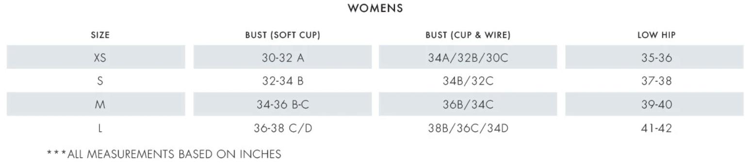 Tori Praver Size Chart