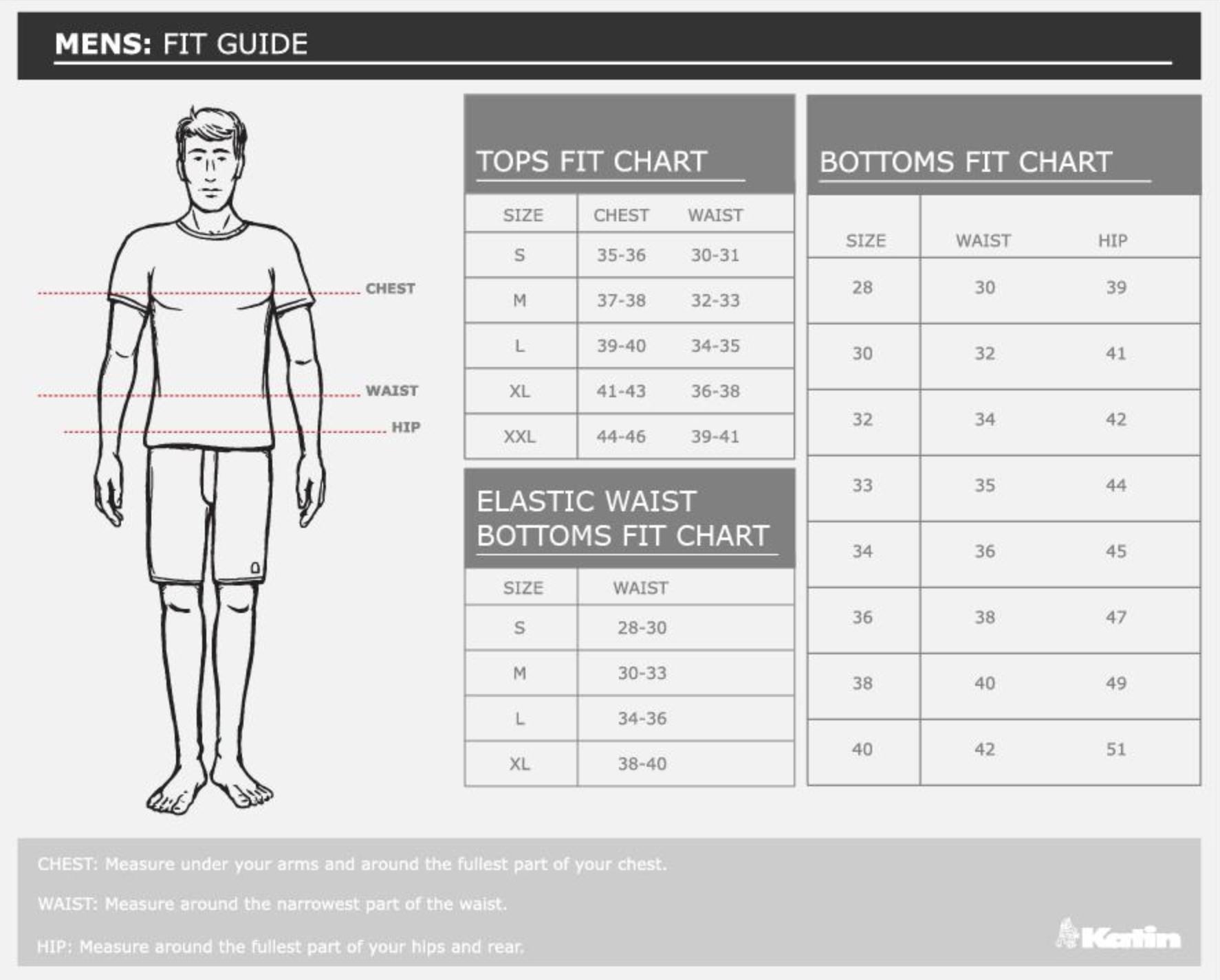 Katin Size Chart