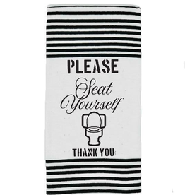 Twisted Wares Twisted Wares Terry Towel Please Seat Yourself