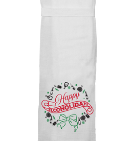 Twisted Wares Twisted Wares Tea Towel Happy Alcholidays