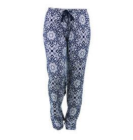 Hello Mello Pants Blue/White Lotus (L/XL)