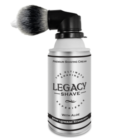 Legacy Shave Legacy Shave Can with Brush - Black