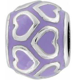 Open Heart Bead Lilac