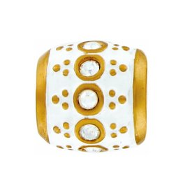 ABC Gold/White Stone Artistry Bead
