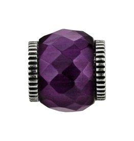Abc Glass Bead Purple