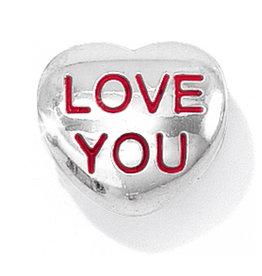 ABC Sil/Emn Love You Bead