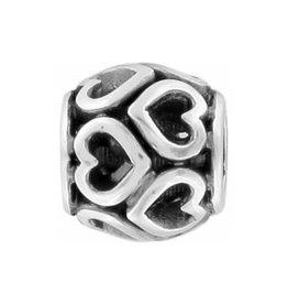 Open Heart Mini Bead Silver