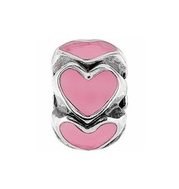Ring of Hearts Mini Bead Pink