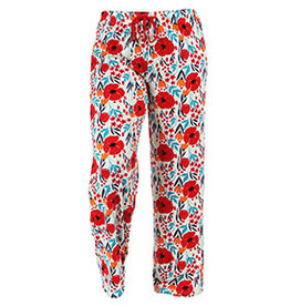 Hello Mello Pants Red Floral Pattern (S/M)