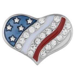 Gingersnap USA Heart Shape Regular Snap