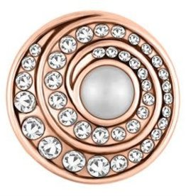Gingersnap Rose Gold Twirl Pearl Clear Regular Snap