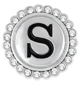 "Gingersnap ""S"" Silver Bling Regular Snap"