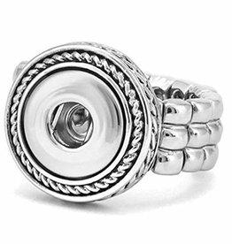 Gingersnap Petite Ring - Rope Design Stretch