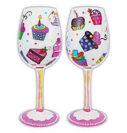 """Gift Essentials Wine Glass """"Let's Eat Cake"""""""