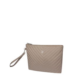 Beside U Beside U Wristlet Clairview Footstep Grey