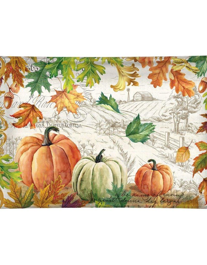 Fall Harvest Rectangle Glass Soap Dish