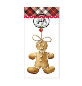 Gingerbread Man Pocket Tissues