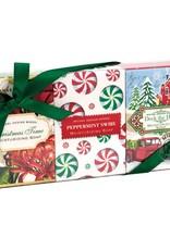 Christmas Time, Peppermint Swirl, Deck The Halls Mini Soap Set