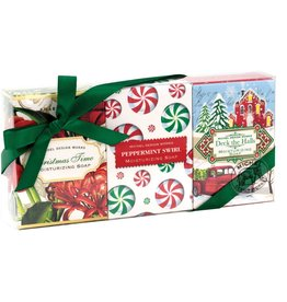 Christmas Time, Peppermint Swirl, Deck The Halls Mini Soap Set