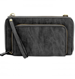 Joy Susan Joy Susan Mini Convertible Wristlet Brushed Black