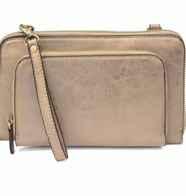 Joy Susan Joy Susan Mini Convertible Wristlet Brushed Metallic Light Gold