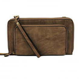 Joy Susan Joy Susan Mini Convertible Wristlet Brushed Chocolate
