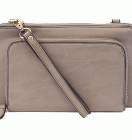 Joy Susan Joy Susan Mini Convertible Wristlet Brushed Smoke Grey