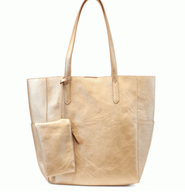 Joy Susan Joy Susan North South Bella Tote Metallic Gold