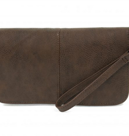 Joy Susan Joy Susan Mia Multi Pocket Crossbody Clutch Chocolate