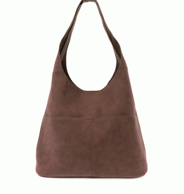 Joy Susan Joy Susan Jenny Faux Suede Hobo Chocolate