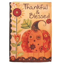 Thankful and Blessed Garden Flag