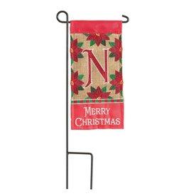 Mini Merry Christmas Monogram N